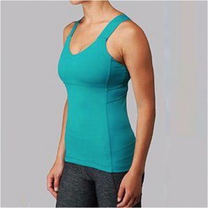 Lululemon Push Your Limits Tank Top Crossback Teal